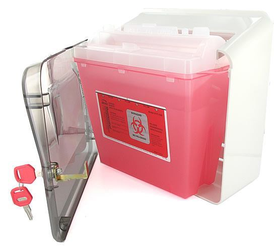 Bemis Sharps Cabinet, for Use With a 5 Quart Bemis Sharps Container and Glove Box Holder