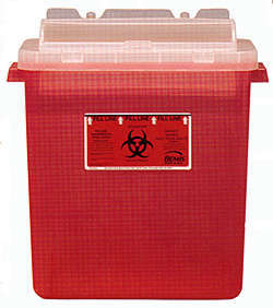 Sharps Containers for Safe Disposal of Tattoo & Piercing Needles & Scarification Scalpel Blades