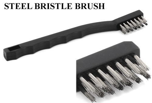 Steel Bristle Brushes for Scrubbing Tattoo & Piercing Tools