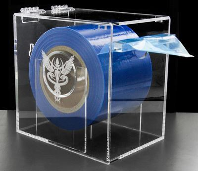 Wall-Mountable Blue Barrier Film Holder by Precision