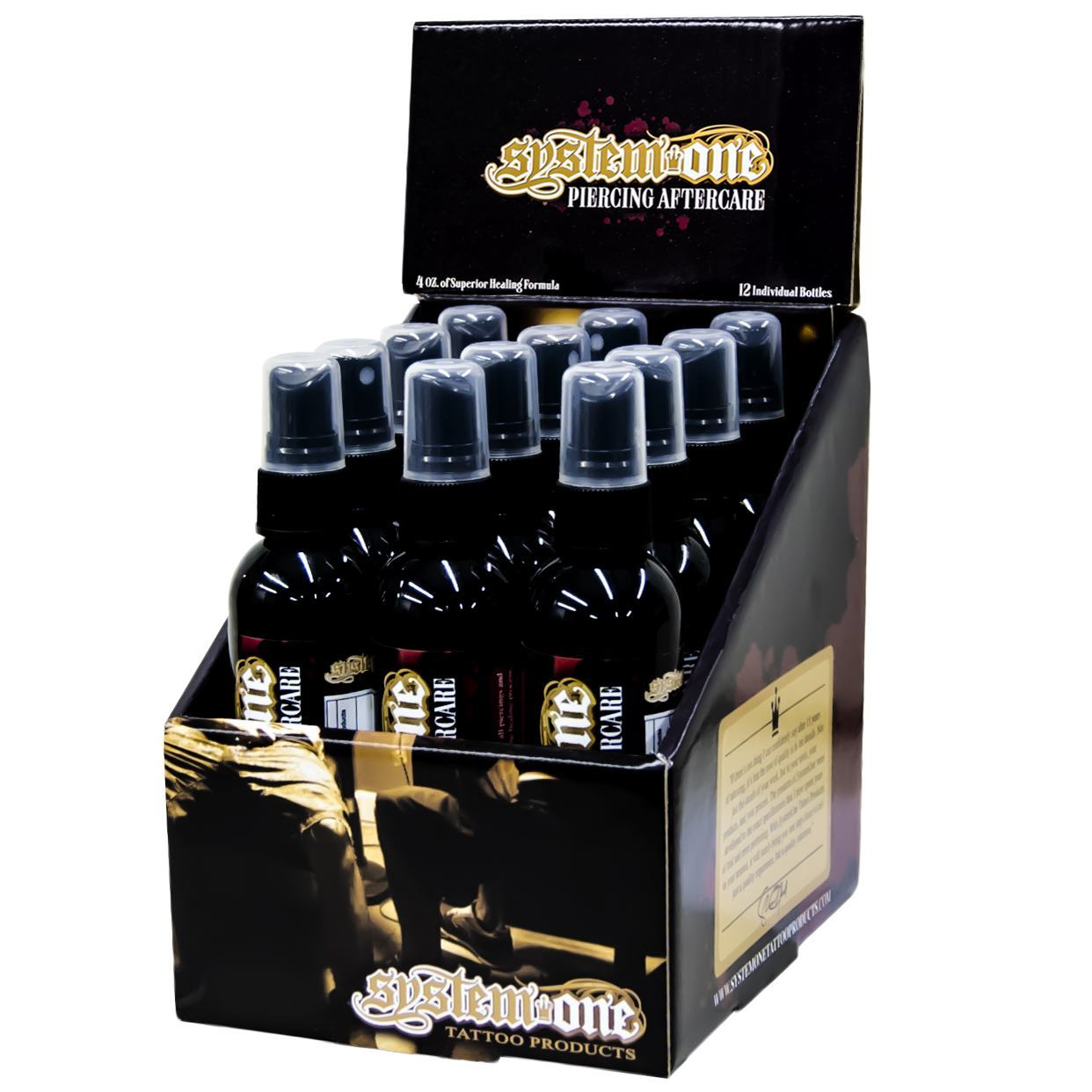 Case of 12 System One Piercing Aftercare Spray Bottles