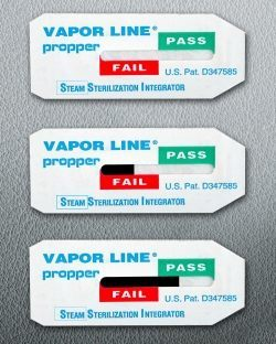 Propper's Vapor Line Steam Sterilization Integrator Indicators
