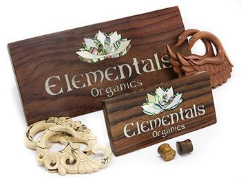Elementals Organics Display Stands With Inlaid Mother of Pearl & Abalone