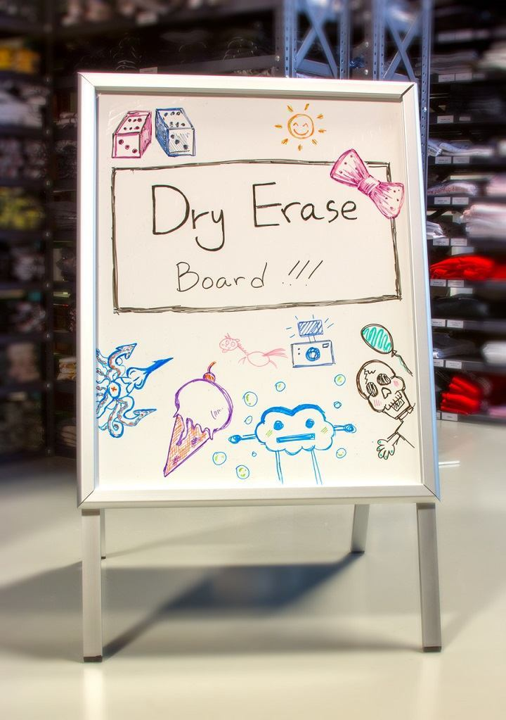 Use Your A-Frame Sign as a Dry Erase Board to Change Specials Daily, Weekly or Monthly