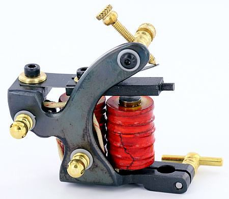 CTPS Saveria Premium 9-Wrap Coil Shader Tattoo Machine by Rick Saveria