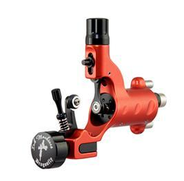 Original Dragonfly Tattoo Machine by Ink Machines in Devilish Red With a Short Stroke